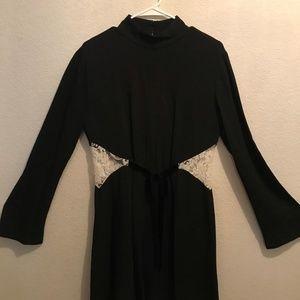 Rachel Zoe Lace-Inset Turtleneck Dress